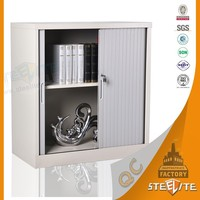 Modern Office Storage Lockable Metal Sliding Tambour Roller Cabinet