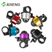 Bicycle Bell Plastic Aluminum Colorful Tinkle Bicycle Bell Kids Bike Horn For Sale Promotion Compass Bicycle Design