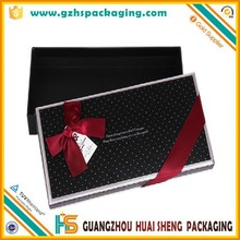 trended rectangle black glove gift box bow tie packaging box with bowknot