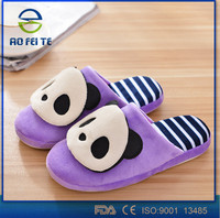 alibaba express Cute Women Men Winter Warm Antiskid Slippers Soft Plush Indoor Couple Home Shoes