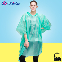Environmental friendly plastic EVA raincoat rain gear