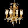 Gold and Amber Beautiful Glass Chandelier Lighting for Arabia