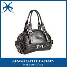 Black cowhide ladies handbag genuine leather handbag china hot selling women handbag wholesale price