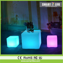 Led used bar furniture,led cube chairs use to Party, Hotel, Home, Night club, Wedding, led cube 3d