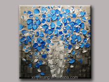Attractive beautiful blue flowers paintings canvas
