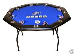 "48"" custom-made octagon poker table"