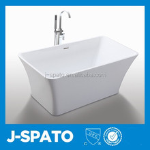 2015 China Wholesale Slap-Up Admirable Classic Square Clawfoot Tubs Prices Acrylic Walk In Bathtube JS-6820