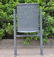 outdoor furniture metal dustbin, dump bin, garbage bin