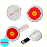 High Quality Round shape Credit Card USB Flash Drive