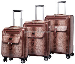 2014 New product high-quality 20 24 28 PU luggage