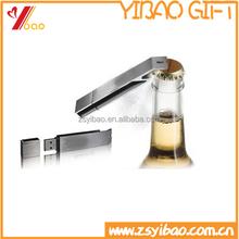2015 cheapest Personalized metal Bottle Openers /USB Bottle openers keychain