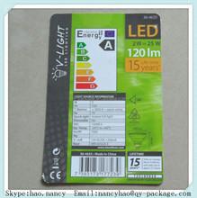LED bulb Description Paper card