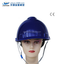 cheap contruction helmet /industrial helmet with open face shield of ABS/HDPE/PE