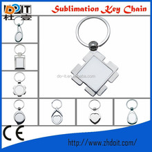 Fashionable 2013 New Customized Metal Sublimation Keychains