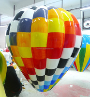 50cm fiber glass checkered balloon waterproof indoor/outdoor decorations/christmas or holiday decorations