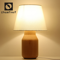 Contemporary carving wood vintage cheap kids table lamp home interior decor design