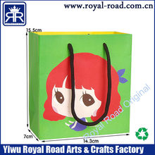 Eco-Friendly High Quality small quantity Lively girl Sign Cartoon Gift Bag