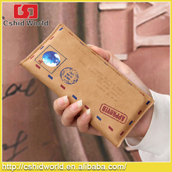 Retro Envelope Leather Pouch For Iphone 6/6 Plus ,High Quality Flip Cover Pouch For Iphone 6/6 Plus