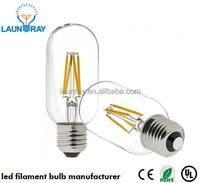 UL E26 T45 Led Filament Bulb 4W 110Vac Dimmable Lamp Sapphire Stem