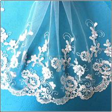 Stylish beautiful 20cm white lace wedding dress patterns