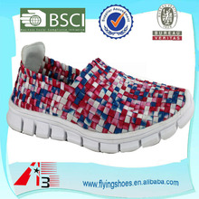 woven elastic comfortable lightweight textured girl shoes