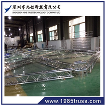 Factory direct hot selling 6 or 4 pillars / 6 or 4 legs tower truss for stage system wtih roof trusses
