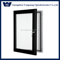 Aluminum Enclosed Frames Swing-Open Poster Display Cases