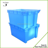 Nest stack plastic storage crates for fruits and vegetables