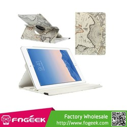360 Degree Rotary Stand World Map Smart Leather Case for iPad Air 2