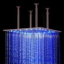 led bath shower 50cm square ceiling mounted Oil Rubbed Bronze led bath shower