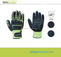 TPR pad back dorsal protection PVC dots new mechanic glove manufacturer