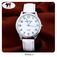Leather Strap New Design Fashion Girls Arabic Numerals Dial Wrist Watch
