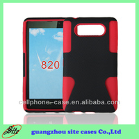 Wholesale super combo case for NOKIA Lumia 820 mesh cover