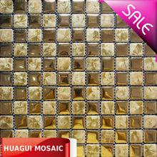 Retro style golden color ceramic Mosaic tile HG-6K067 bathroom