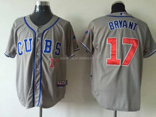 Chicago Cubs 2015 Cool Base Kris Bryant #17 Gray Jersey