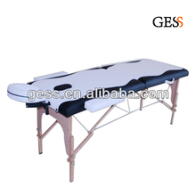 Gess 2510 Low Price Wooden Portable Massage Therapy Table 3 Section Folding Massage Couch