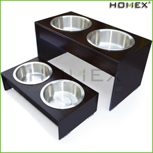 Classic dog feeder/pet bowl holders/stainless steel pet bowl/HOMEX