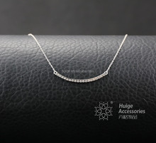 2015 fashion 925 Sterling Silver Clear CZ Valentine Band Necklace for women