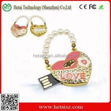 wedding gift jewelry heart shaped usb flash drive, jewelry heart usb memory 1tb, heart usb 512gb