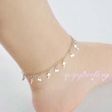 new products on china market feet acessories locket charms golden ankle bracelet