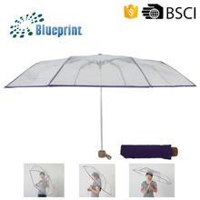 foldable transparent umbrella,clear folding umbrella,folding clear umbrella