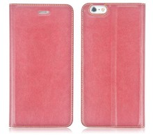 Hot selling cell phone folio stand PU leather cover case for iPhone 6 4.7' leather case