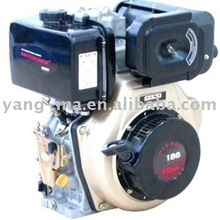 electric start portable 186f 10hps small power air cooled diesel engine