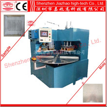 Automatic double-head multi work-station hot press welding and cutting forming machine for battery blister packing