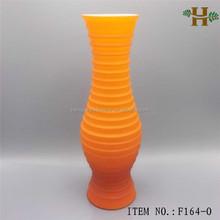 hand made orange decoration flower vase for wedding