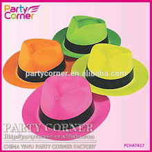 Neon Gangster Hats With Band
