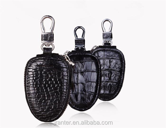 Top Luxury Crocodile Leather Case Car Key  Holder Wallet,High-end Leather bmw key case_10