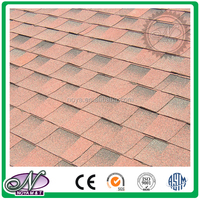 Colorful all kinds fiberglass asphalt shingle glaze laminated asphalt shingles with great price