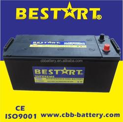 Popular 24V 150ah big size car battery lorry battery N150-MF