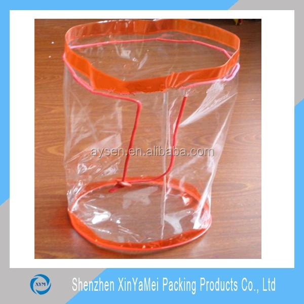 Custom clear vinyl pvc drawstring bag